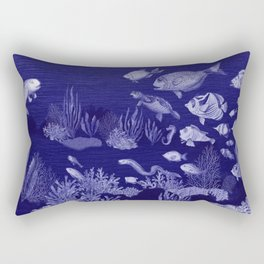 ballpoint pen ocean fishing 2 Rectangular Pillow