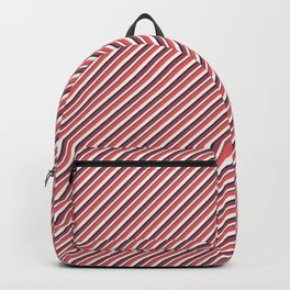 Red Inclined Stripes Backpack