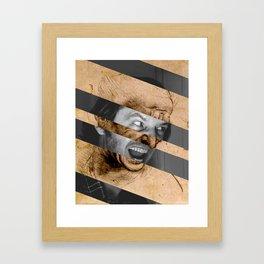 Leonardo da Vinci's Head for The Battle of Anghiari & Jack Nicholson Canvas Framed Art Print
