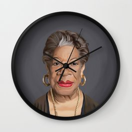 Celebrity Sunday ~ Maya Angelou Wall Clock