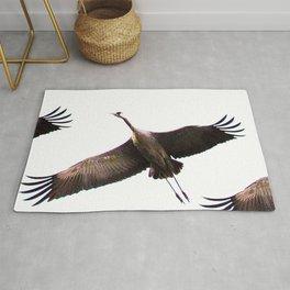 Cranes in flight #decor #society6 Rug