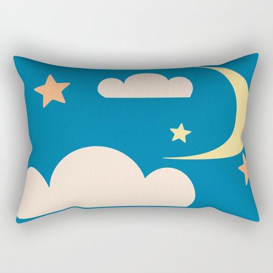 Moon light blue Rectangular Pillow