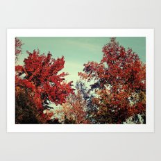 Fall Fire Art Print