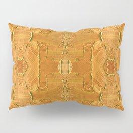 Luxurious Gold Acrylic Pattern Pillow Sham