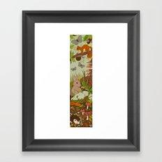 Woodland critters (coloured) Framed Art Print