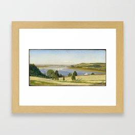 A Buckwheat Field on Thomas Coles Farm 1863, Thomas Charles Farrer Framed Art Print