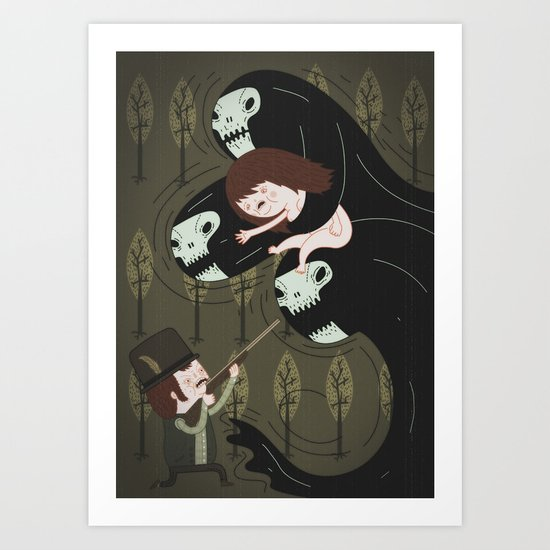 the black forest No.2 Art Print