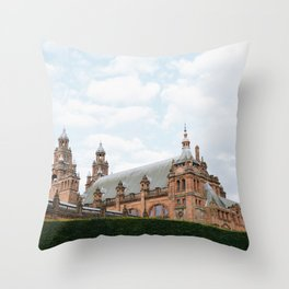 Top of the Kelvingrove in Glasgow Throw Pillow