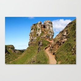 Approach to the Fairy Castle of Uig Canvas Print