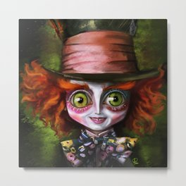We are all mad here Metal Print