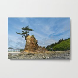 Crab Castle Metal Print