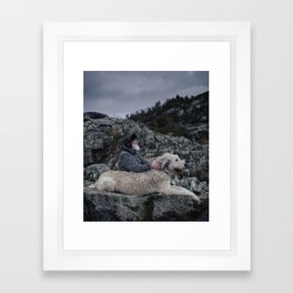 Finn & Don. Framed Art Print
