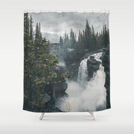 Athabasca Falls Alberta Shower Curtain