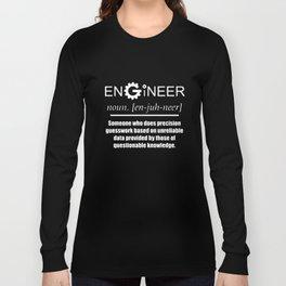 Engineer Noun Cog Design Funny Novelty Job Title Mens Engineer T-Shirts Long Sleeve T-shirt