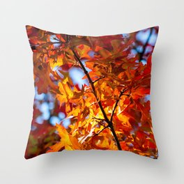 Autumn Leaves in NYC Throw Pillow
