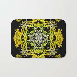 Crowning Goldenrod and Silver king Kaleidoscope Scanography Bath Mat