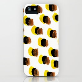 Abstract Yellow Blots pattern iPhone Case