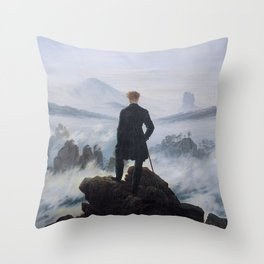 Caspar David Friedrich - Wanderer above the sea of fog Throw Pillow