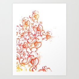 Burning up Art Print