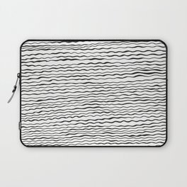 Mudcloth irregular pattern hand drawing black&white Laptop Sleeve