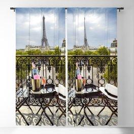 Eiffel Tower Paris Balcony View Blackout Curtain