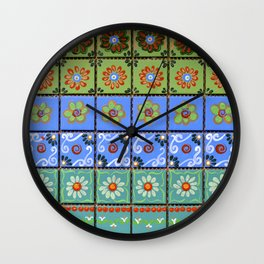 """Country Patchwork (iii)"" by ICA PAVON Wall Clock"