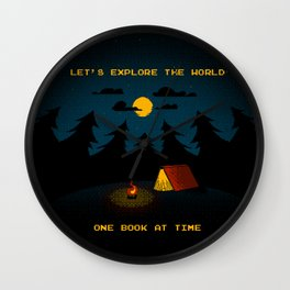 Let's Explore the World Wall Clock