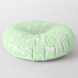 Paisley (Light Green & White Pattern) Floor Pillow