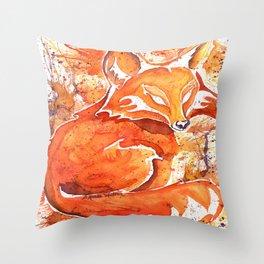 Fox (Spirit of the...) Throw Pillow