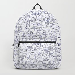 Physics Equations in Blue Pen Backpack