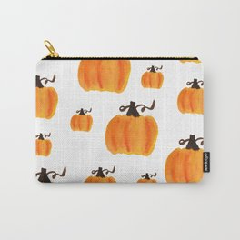 Watercolor Pumpkin Pattern Carry-All Pouch