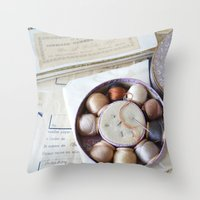 sewing Throw Pillows featuring Vintage Sewing by KarenHarveyCox