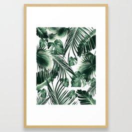 Tropical Jungle Leaves Dream #7 #tropical #decor #art #society6 Framed Art Print