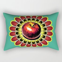 Apple and daisy Rectangular Pillow