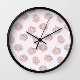 Meringues pattern Wall Clock