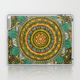 Malachite Baroque Mandala Laptop & iPad Skin