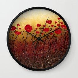 Campo Florido Wall Clock