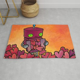 Robot - Overflowing with Endless Love Rug