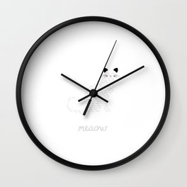 Multilingual cat  Wall Clock