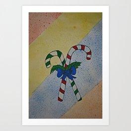 Christmas Candy Painting Art Print