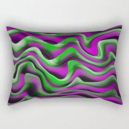 purple green alga Rectangular Pillow