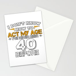 Funny Birthday Gift 40 Years Forty Born in 1978 Stationery Cards