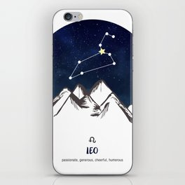 Astrology Leo Zodiac Horoscope Constellation Star Sign Watercolor Poster Wall Art iPhone Skin