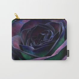 Rose In Purple Indigo And Green Carry-All Pouch