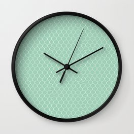 Chicken Wire Mint Wall Clock