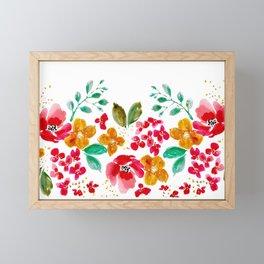 Red Poppy Rush Framed Mini Art Print