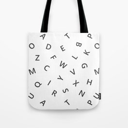 The Missing Letter Alphabet W&B Tote Bag