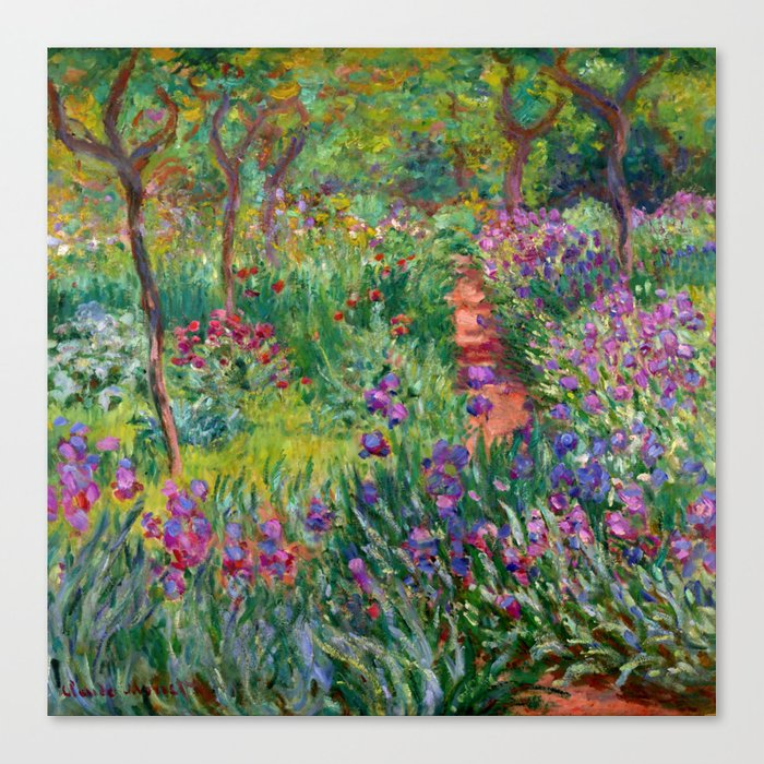 "Claude Monet ""The Iris Garden at Giverny"", 1899-1900 Leinwanddruck"