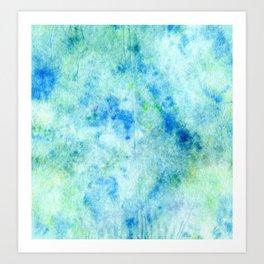 Ocean DyeBlot Art Print