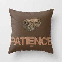 Patience Meditation S.01 Throw Pillow